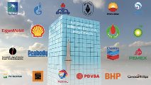Logos of the 20 largest Carbon Major fossil fuel producers