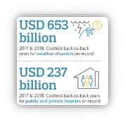 Record world total and insured losses from extreme weather