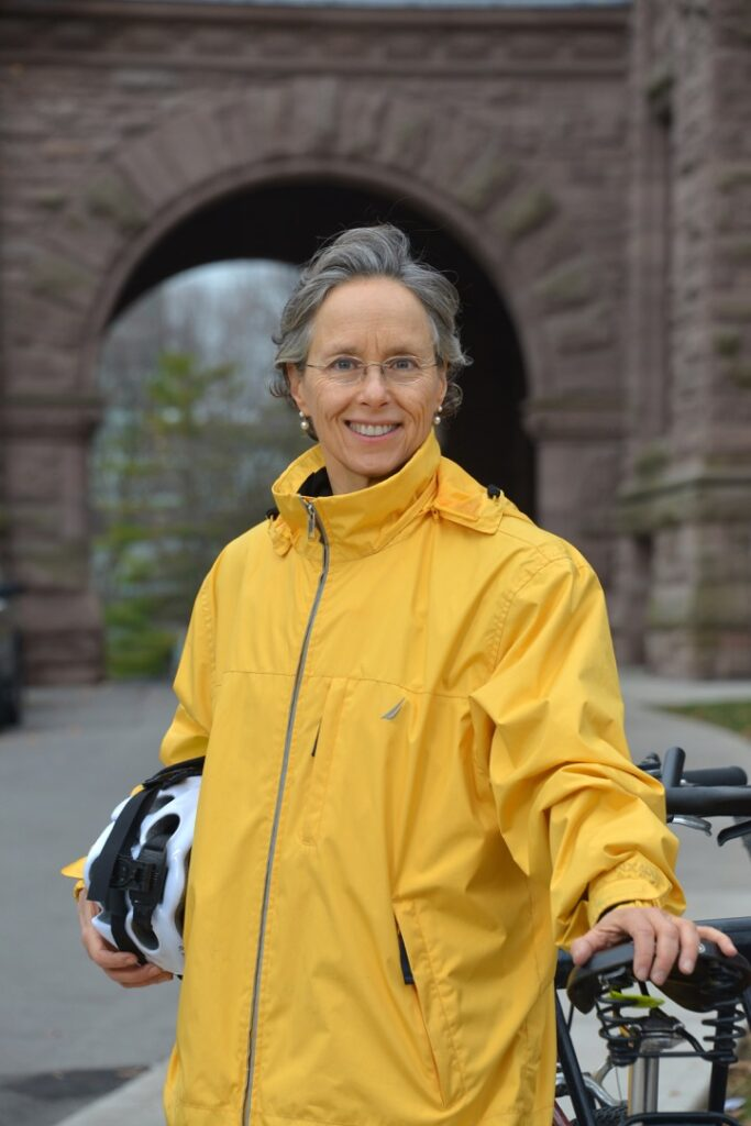 Dianne Saxe with bike