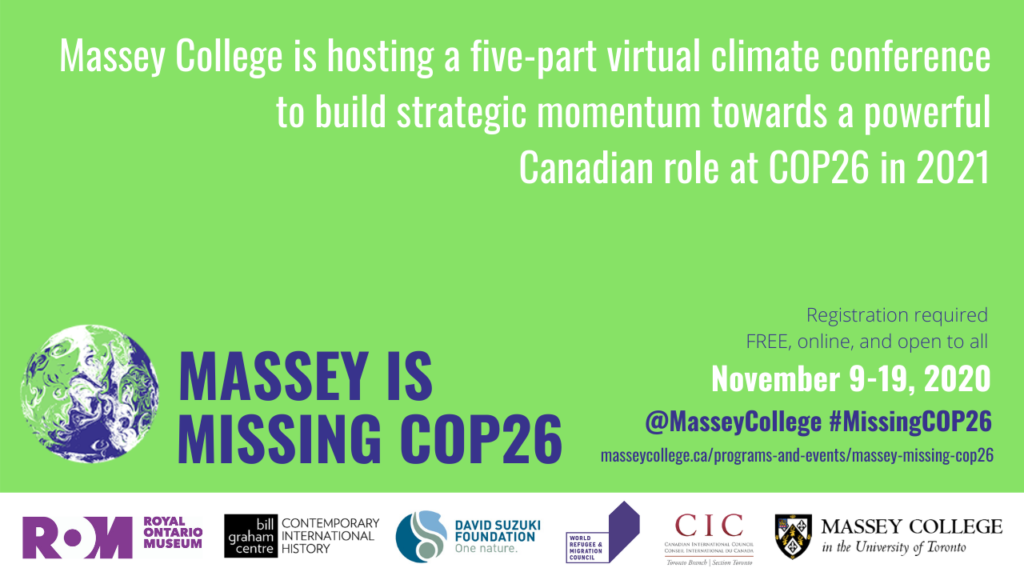 Massey is Missing COP26 climate conference